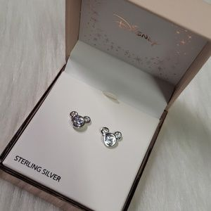 Sterling Silver Mickey Mouse Earrings